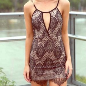 NWT LF dream state lace keyhole dress
